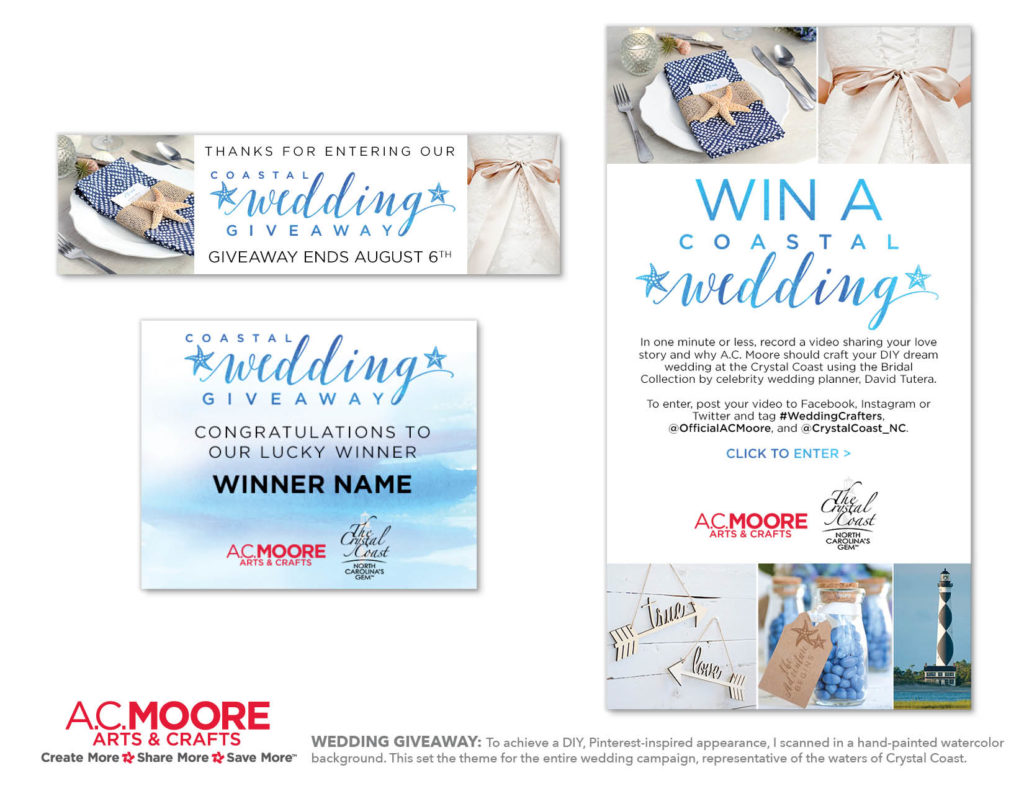 AC Moore's Coastal Wedding Giveaway